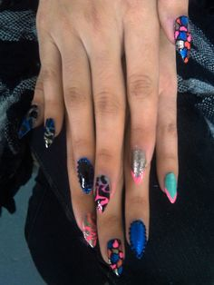 Pointed Manicure - Colorful Nails