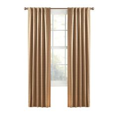"""Style Selections 63""""L Thermal Natural Roberta Window Panel"""