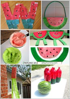 10 Fun Watermelon Crafts for Kids to make this Summer!