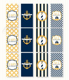 nautical baby shower: mini candy bar wraps  {Love The Day}