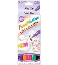 Wilton Fine Tip Food Writer Edible Color Markers: decorating tools: baking: Shop | Joann.com