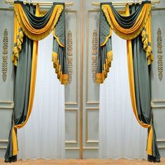 Some really nice valence/whatever the other is called combinations! Ulinkly is for Affordable Custom-made Luxurious Window Curtains Window Curtain Designs, Drapery Designs, Curtain Styles, Luxury Curtains, Elegant Curtains, Hanging Curtains, Drapes Curtains, Window Coverings, Window Treatments