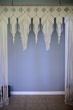 Macrame Wedding Arch 6' x 8' Natural White Cotton