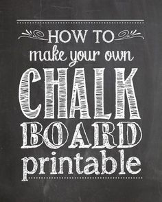 Make sure you follow me on Instagram and Pinterestfor a sneak peek into my recent projects! If you've been browsing through the internet or Pinterest the past couple of months, you've probably noticed the overwhelming number of Chalkboard Printables that have taken over. Seriously adorable, right? Well now I'm going to show you how you …
