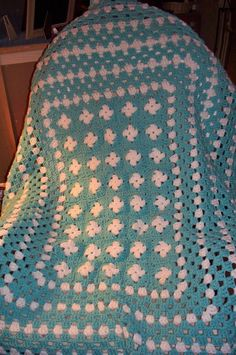 Large granny afghan by CustomCrochetGifts on Etsy