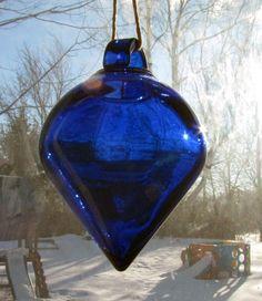 Cobalt Blue Pendulum Sunlight and Scent Diffuser.... gorgeous