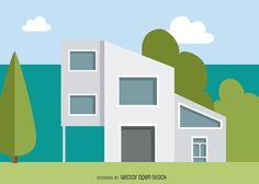Ilustración moderna casa