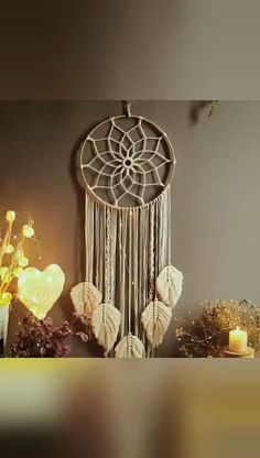 Diy Crafts For Home Decor, Diy Crafts Hacks, Diy Crafts For Gifts, Macrame Design, Macrame Art, Macrame Projects, Dream Catcher Patterns, Dream Catcher Decor, Doily Dream Catchers