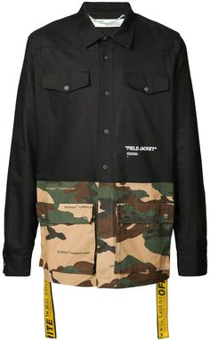 Off-White panelled shirt