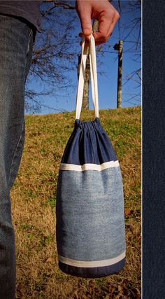 Make a DIY Growler Tote from an Upcycled Pair of Jeans