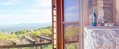 Magnificent #view from a guest #room of VALDONICA : the #pergola of #wisteria is a pleasant and #fragrant meeting .