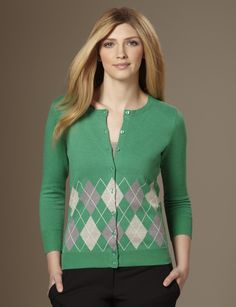 Wish I could pull off an argyle pattern.