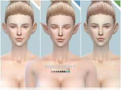 The Sims Resource: Snow Elf skintones for sims 4 CC DOWNLOADS