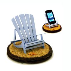iBeach in Lifeguard Blue - A multi-functional iPhone stand. $34.00, via Etsy.