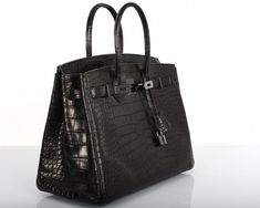 HERMES BIRKIN BAG BLACK MATTE SO BLACK CROC  Hermeshandbags Hermes Birkin ae1127e88264e