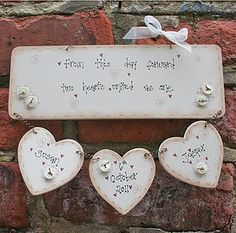 Handmade Wooden Wedding Plaque