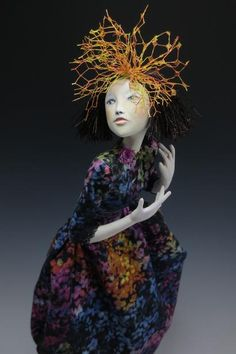 """Embrace Life - 20"""" tall, paper clay by Cindee Moyer"""