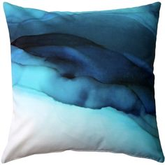 Dive in with the Beneath the Waves Throw Pillow. Deep blues collide but beneath the chaos this pillow gives a sense of calm.