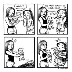 "C-Cassandra: ""Forever a cat lady."" Same, cats over babies Cat Comics, Funny Comics, Funny Cute, The Funny, Super Funny, C Cassandra Comics, Cassandra Calin, Rage Comic, Funny Jokes"