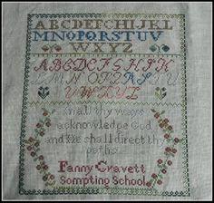Fanny Cravett by Handwork Samplers.