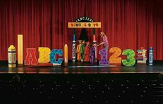 School days ABC Cardboard Stand-Up - Decoration For Home Pre K Graduation, Graduation Theme, Kindergarten Graduation, Graduation Decorations, School Decorations, Ceremony Decorations, School Parties, Laura Lee, Graduate School