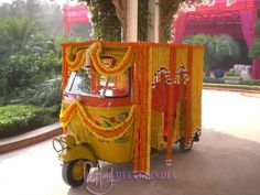 Haha! A decked up auto! That's quirky! :D #desi #wedding