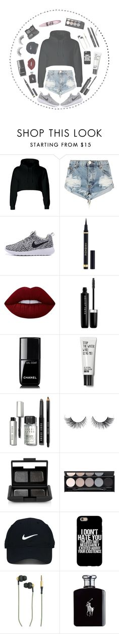 """""""I lost my self """" by seniora ❤ liked on Polyvore featuring One Teaspoon, Yves Saint Laurent, Lime Crime, Marc Jacobs, Chanel, Bobbi Brown Cosmetics, NARS Cosmetics, Witchery, Maybelline and Nike Golf"""