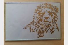 Digital Glass Etching with Spotted Gold Finishing...