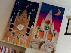 paper mache gothic inspired cathedrals Art at Becker Middle School: 7th grade