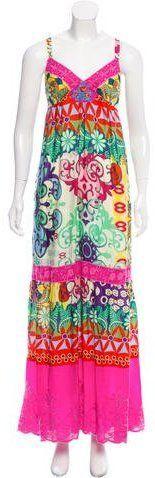Gerard Darel Printed Maxi Dress