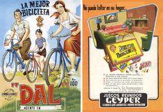 Bicicletas Dal de 1950 y Juegos Reunidos Geyper 1958.