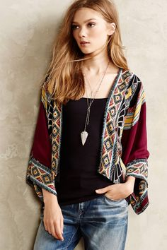 Prerna jacket #Anthropologie (I may as well change the name of this board to I Wish I Could Wear All Anthropologie.)