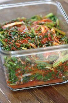나른한 봄날의 별미김치(3)열무자박이,열무김치. : 네이버 블로그 Korean Food, Food Plating, Japchae, Green Beans, Vegetables, Cooking, Ethnic Recipes, Recipes, Kimchi Recipe