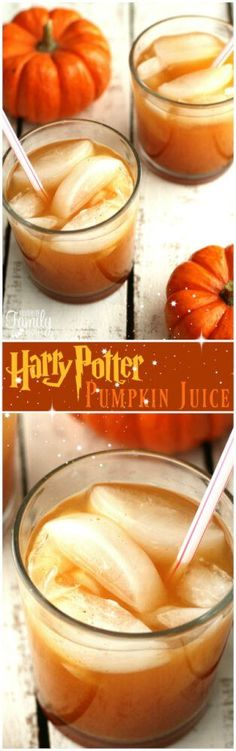 Our version of Harry Potter's Pumpkin Juice is the perfect drink for fall. It has a smooth pumpkin flavor with a little bit of spice and is super tasty! #pumpkinjuice #harrypotterpumpkinjuice