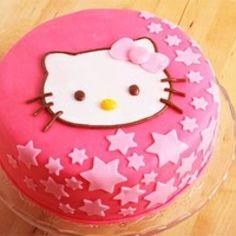 Hello kitty cake... With purple stars