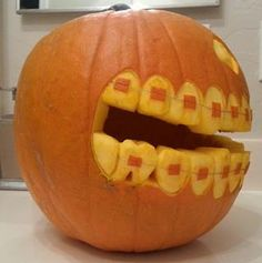 pumpkin with braces!