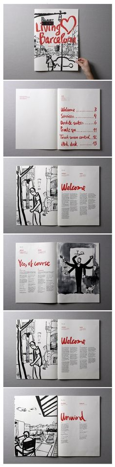 """El palauet """"Living Barcelona"""" by Marnich , nice zine layout Layout Print, Layout Design, Design De Configuration, Graphisches Design, Buch Design, Print Design, Design Ideas, Editorial Design Layouts, Design Brochure"""