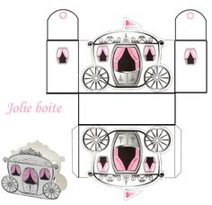 THEME LES CONTES DE FEES PAR ROYAUMES .....N° 2 - 1 et 2 et 3 DOUDOUS * PATRONS* PATTERNS * GABARITS FETE A THEMES POUR ENFANTS Disney Princess Party, Cinderella Party, Printable Box, Printables, Paper Box Template, Diy And Crafts, Paper Crafts, Diy Box, Paper Models