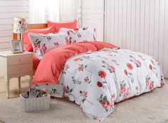 Dolce Mela 6pc Duvet Cover FULL QUEEN Bedding Sheet Set Floral Odessa Pattern  #DolceMela