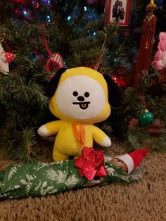 Chimmy Park decided to wrap Cherry The Elf and put her under the tree ...  #ElfOnTheShelf #TeenElf #Chimmie