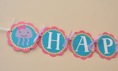Girly Under the Sea Birthday Party Banner by DesignsByDodi on Etsy, $28.00
