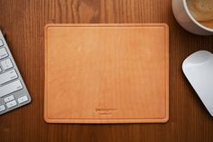 Leather Mouse Pad by (multee)project