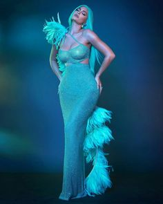 Kylie Jenner Looks Her Sexier Best In Her Aqua Busty Mermaid Avatar at Met Gala After Party - HungryBoo Kylie Jenner Met Gala, Kylie Jenner Hair, Looks Kylie Jenner, Estilo Kylie Jenner, Kylie Jenner Pictures, Kylie Jenner Outfits, Kylie Jenner Style, Kendall Jenner, Travis Scott