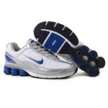 Nike Shox R4 2 Mens Leather Upper white silver blue