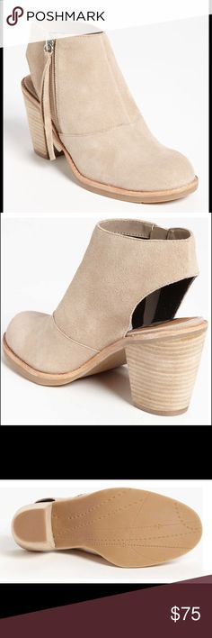 """DV BY DOLCE VITA """"JENTRY"""" BOOTS. Suede Tan heels, New and Never been worn...gorgeous heels.. DV by Dolce Vita Shoes Ankle Boots & Booties"""