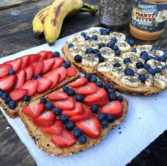 Healthy Fruit Peanut Butter Sandwiches - Crafty Recipes