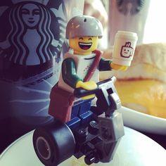 #lego #segway getting his #morning #starbucks