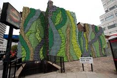 Transport for London commissioned this green wall to counter air pollution on the corner of Edgware and Marylebone Roads