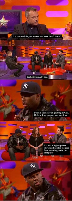 50 Cent Vs. Jimmy Carr  Don't like Jimmy's humour much, but he's not wrong!