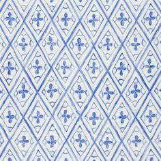 tasuki - cobalt fabric | Designers Guild